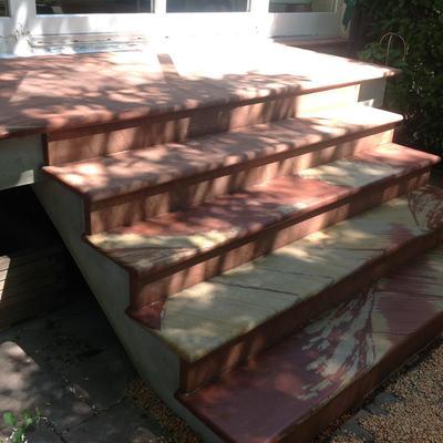 Sandstein Außentreppe