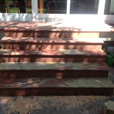 Sandstein Außentreppe Frontansicht