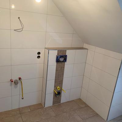 Badezimmer standard mittlere größe - Akzent WC